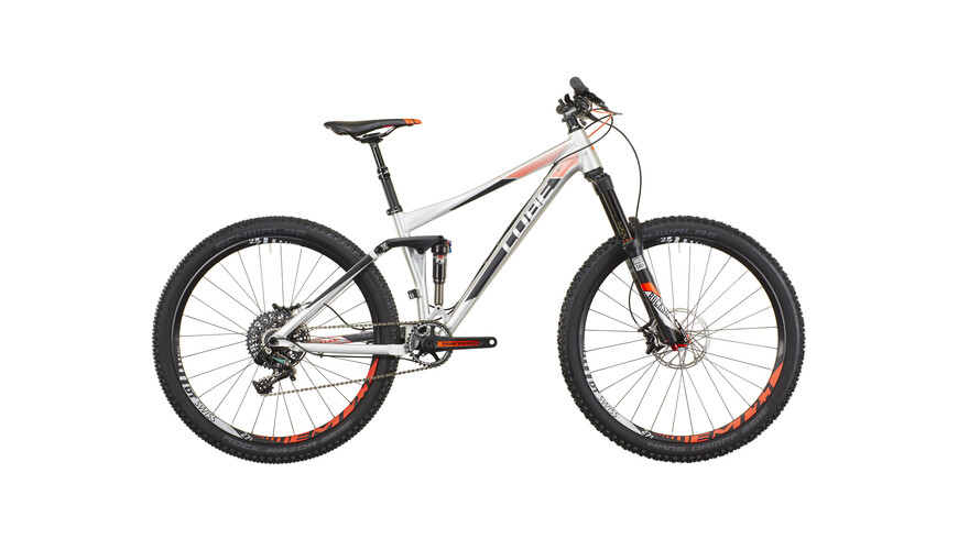 Cube Stereo 140 HPA SL 27.5 Full suspension mountainbike zwart/zilver